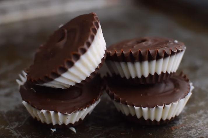 Chocolate Coconut Ice Cream Cups