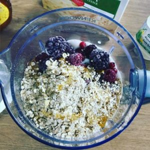 add oatmeal in smoothie