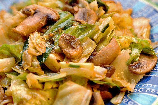Cabbage and Mushroom Stir Fry