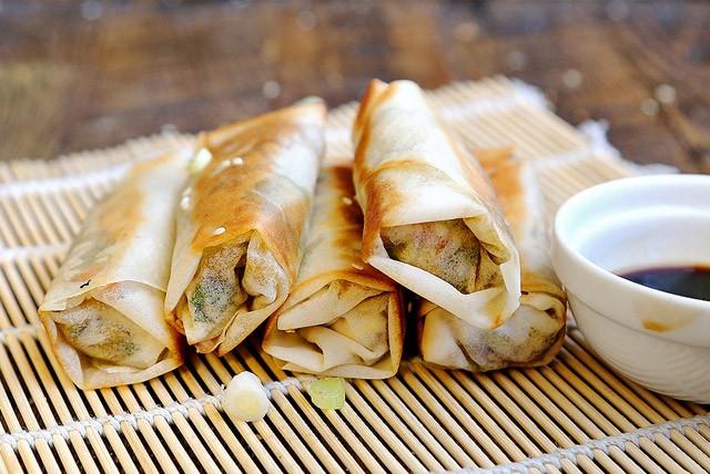 Non-Deep Fried Vegan Spring Rolls